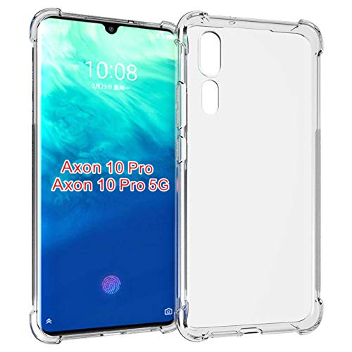 Axon 10 Pro Case,ZTE Axon 10 Pro case,PUSHIMEI Soft TPU Crystal Transparent Slim Anti Slip Full-Body Protective Phone Case Cover for ZTE Axon 10 Pro 5G(Clear Anti-Shock TPU)