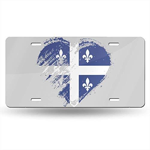 EADFH I Love Quebec Novelty License Plate Tag Sign Neuheit Geschenk Werbung Malerei Art Nostalgic Tin Poster Deco