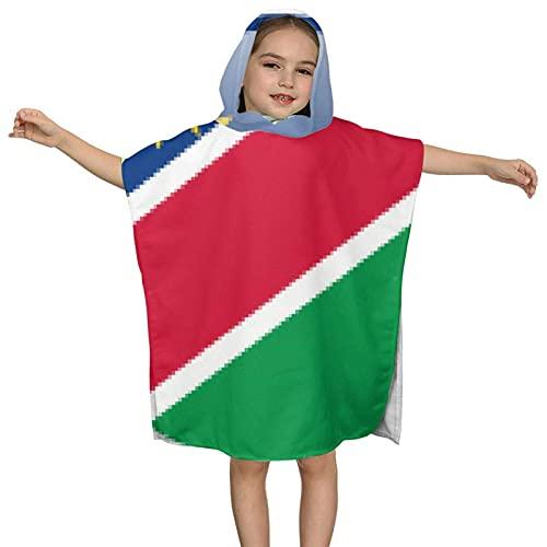 XCNGG Toalla de baño con Capucha para niños El diseño de Capa Multifuncional de Namibia se Puede Doblar como Toalla y Cubierta de natación