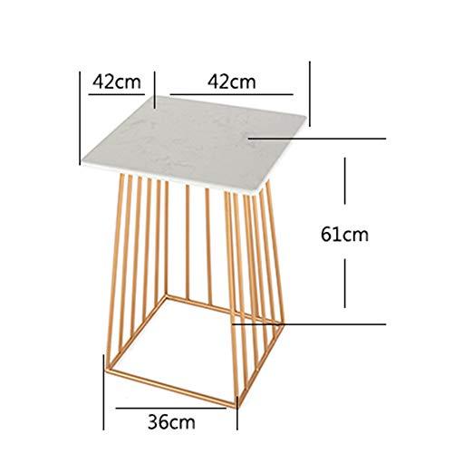 Tables FEI - Bureau d'ordinateur d'appoint Canapé d'appoint Basse en marbre de Chevet de Coin Étagère de Rangement à 2 Niveaux pour Tous Les postes de Travail