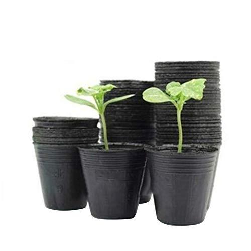 Lot de 100 pots de fleurs décoratifs de Noël en plastique pour semis, plantation, pépinière pour la maison, le jardin 12 cm x 10 cm