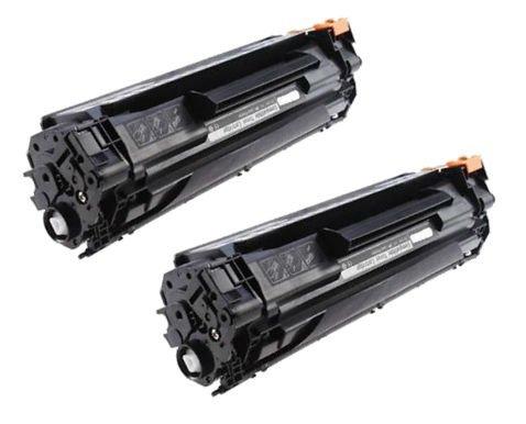 Prestige Cartridge CB436A 36A Pack de 2 Cartuchos de tóner láser compatibles para HP Laserjet P1505, P1505N, M1120 MFP, M1120N, M1520, M1522 MFP, M1522N, M1522NF, P1506