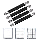 Adjustable Bed Sheet Clips, Sheet Fasteners Holder Straps and Suspender, Gripper, Extend From 21' to...