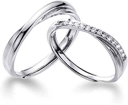 IMINI Endless Love Couple Rings Sterling Silver Cubic Zirconia Crystal...