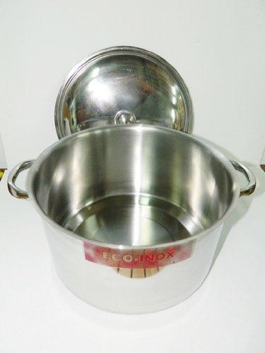 Marmite Cuve Faitout avec couvercle inox de diamètre 24 cm cocotte cuisine