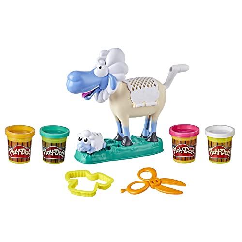 Play-Doh Owieczka to zabawka dla dzieci w wieku od 3 lat z wesołymi odgłosami i nietoksyczną ciastoliną Play-Doh w 4 kolorach