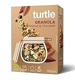 Turtle Cereals Granola orgánica sin gluten con nueces, quinua inflada y chocolate - 1 x 350 gramos