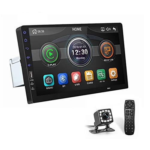 ASTSH - Radio para coche estéreo de 9 pulgadas (1080p, visualización táctil con espejo, cámara de respaldo, Bluetooth, radio FM, AUX/USB/TF MP3/MP4/MP5 Player