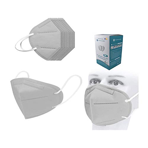 25pcs Gray Disposable_𝙉𝟵𝟱_Face_Mask with Nose Bridge Design, FDẴ Certified Adults 5 Layers Cup Dust Safety Face ṁàsḱs for Coronàvịrụs Protectịon, Fịlter Efficịency≥95%