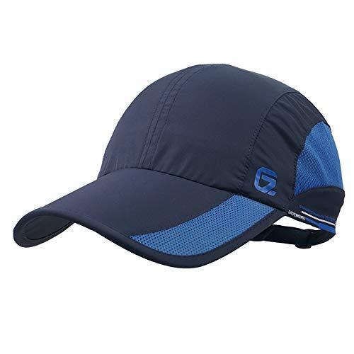 Gorra de béisbol iBasingo con visera suave, ligera, impermeable, transpirable, para hombre y mujer, de secado rápido, protección UV, para actividades al aire libre