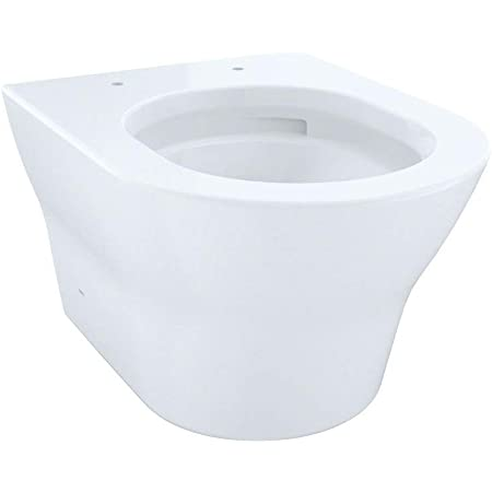 TOTO CT437FG#01 MH Wall Hung D Shape Bowl, Cotton White