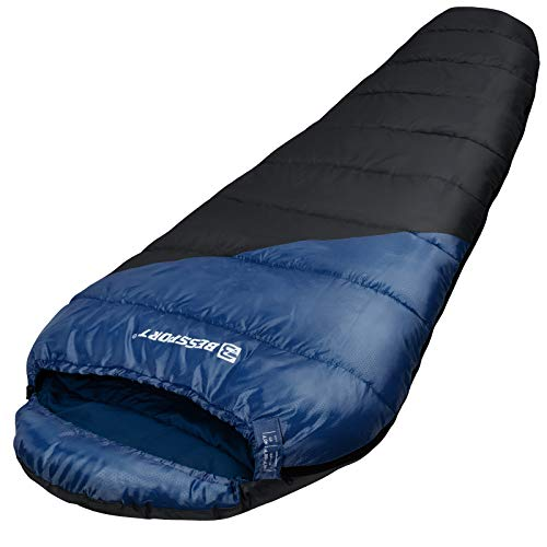 Bessport Mummy Sleeping Bag Water Repellent Lightweight Sleeping Bags 3 Season Warm for Adults for Camping, Hiking, Outdoor & Indoor