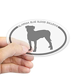 CafePress Alapaha Blue Blood Bulldog Si Oval Bumper Sticker, Euro Oval Car Decal 10