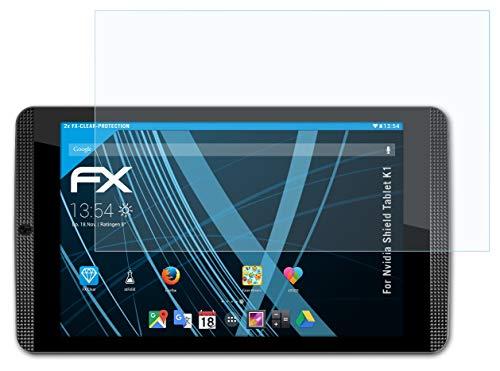 atFoliX Lámina Protectora de Pantalla Compatible con Nvidia Shield Tablet K1 Película Protectora, Ultra Transparente FX Lámina Protectora (2X)