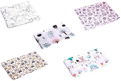 Mullwindeln LUX - 5er Pack | PREMIUM QUALITÄT - Stoffwindeln & Mulltücher fürs Baby (5er Pack UNI)