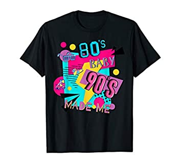 80 s Baby 90 s Made Me Retro 1980s 1990s Halloween Party T-Shirt