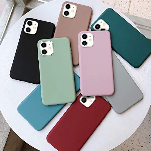 HNZZ Tmrtcgy Caso for iPhone 11 12 Mini Pro XR XR XS MAX Cover Coque for Apple 7 8 Funda Etui Thin Luxury Caps Suave Lindo (Color : Wine Red, Size : Iphone7 8)
