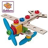 Eichhorn - 100039013 - Jeu de Construction Bois - Avion 2 en 1 - 40 Pièces Bois