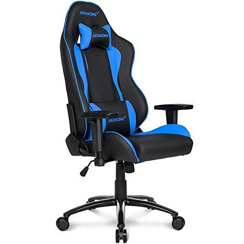 AKRacing Nitro Sedia Gaming, Finta Pelle, Nero Blu, 70 x 60 x 90 cm 5 unità