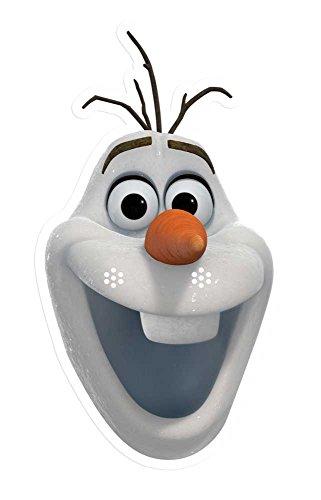 Disney Frozen Papiermasken (2x Anna, 2x Elsa, 2x Kristoff, 2x Olaf)