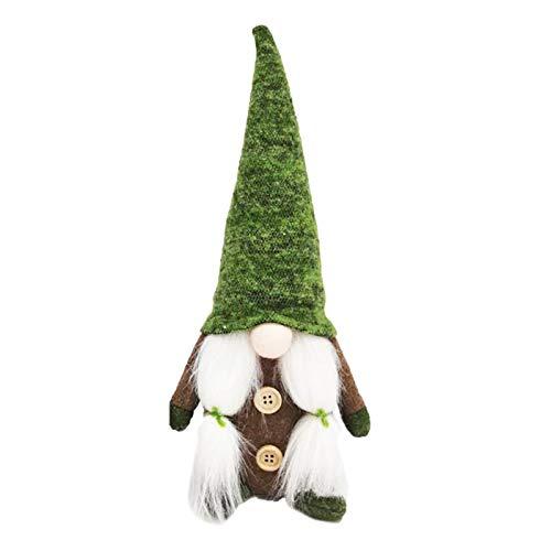 XIMIN 1pc St. Patricks Day Gnom Gesichtslose Puppe, Irische St. Patrick's Day Geschenke Kobold Nordisch Schwedisch Nisse Frühling März Gnom Plüschpuppe Tomte Geschenk Für März Saint Paddy's Day (B)