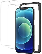 NIMASO ガラスフィルム iPhone12 / iPhone12Pro 用 強化 ガラス 保護 フィルム ガイド枠付き 2枚セット NSP20L177