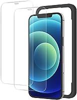 NIMASO 玻璃膜 iPhone12 / iPhone12Pro 用 钢化 玻璃 保护 膜 带导框 2件装