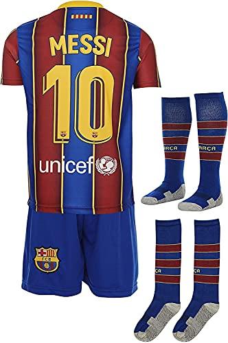 YOYOL Jersey de fútbol Jersey Jersey Réplica FC T Juego de Camisetas y Pantalones. Barcelona 1er EQ Temporada 2020-21- Número 21 F. DE Jong - 100% poliéster Club de Hombres de Manga Corta de Verano