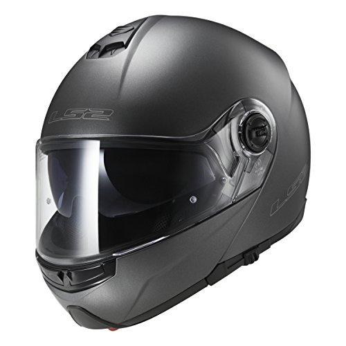 LS2 Helmets Modular Strobe Helmet (Gunmetal - Large)