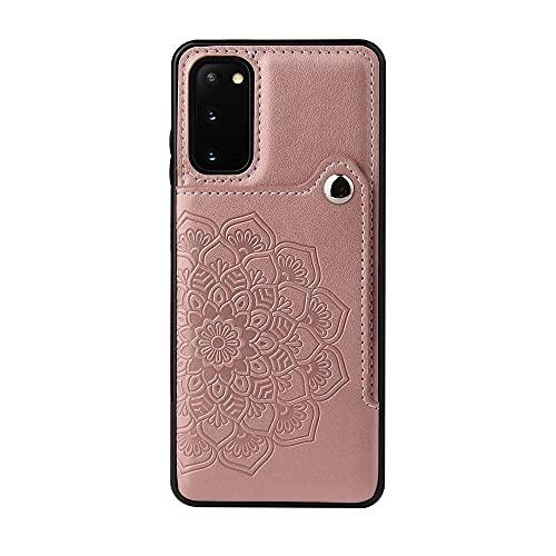 BAIYUNLONG Funda Protectora, para Samsung Galaxy S20 Wallet Teléfono Titular de la Caja, Botones magnéticos de Cuero PU Afterstand a Prueba de choques Funda Protectora para Samsung Galaxy S20
