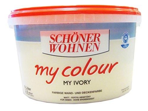 Schöner Wohnen - my colour Wandfarbe matt - 1544 My Ivory, 5 L