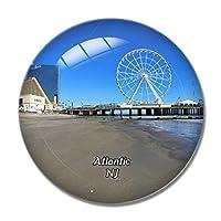 アトランティックシティビーチショアカジノニュージャージー米国冷蔵庫マグネットホワイトボードマグネットオフィスキッチンデコレーション