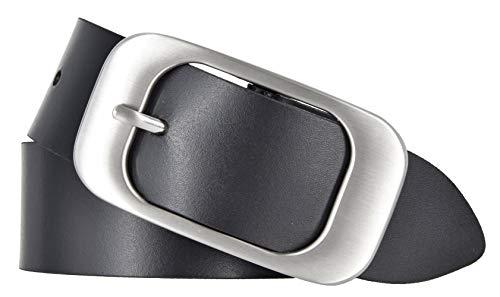 Bernd Götz Gürtel Damen Leder Gürtel 40 mm schwarz Rindleder Jeansgürtel (Schwarz, 105)