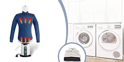 TECHNOSMART 850 W macchina automatica a secco e stiratura per camicie e camicette, da XS a XXL, per camicie 65 °C, aria calda fredda