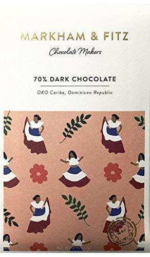 Markham & Fitz, Chocolate Bar 70% Dark Dominican Republic, 2 Ounce