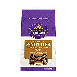 Healthy Dog Treats For Puppies - Old Mother Hubbard Classic P-Nuttier Biscuits.