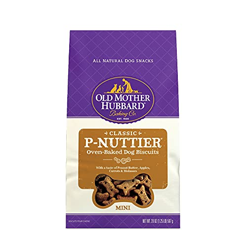 Old Mother Hubbard Classic P-Nuttier Biscuits Baked Dog Treats, Small, 20 Ounce Bag