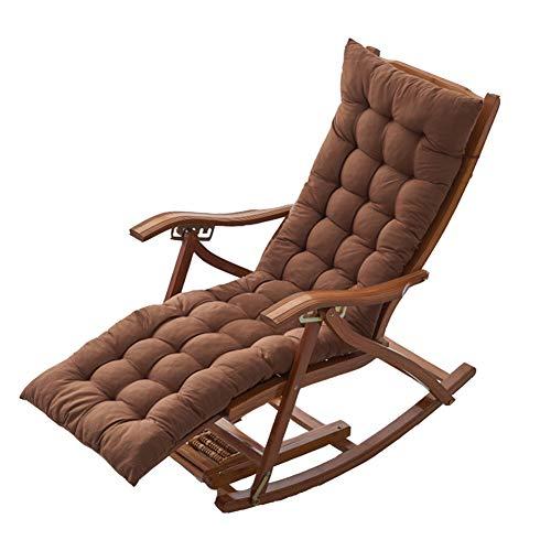 YINGLUO Cojín largo de banco con lazos de fijación, colchón de columpio para tumbona, cojín de asiento de silla de madera para interiores y exteriores, alfombrilla de viaje de repuesto gruesa