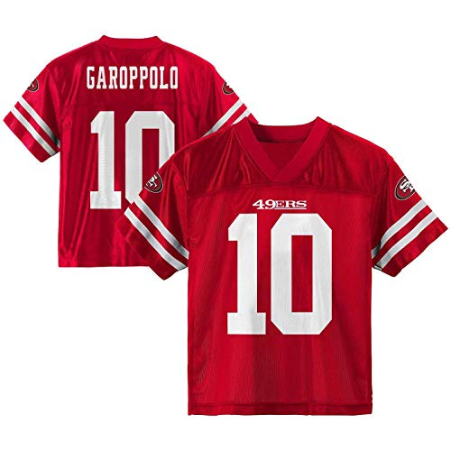 Outerstuff NFL Toddler Team Color Name and Number Home Player Jersey (Jimmy Garoppolo San Francisco 49ers Red Home, 4T)