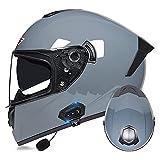Casco Bluetooth para motocicleta, casco modular con Bluetooth, casco delantero con doble visera antiempañamiento, aprobado por ECE/DOT (color: #9)
