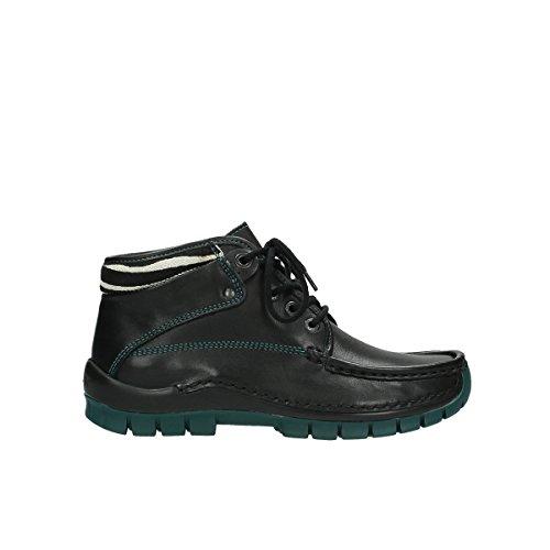 Wolky Schnürschuhe 4728 Cross Winter - 203 schwarz-grün Leder - 37