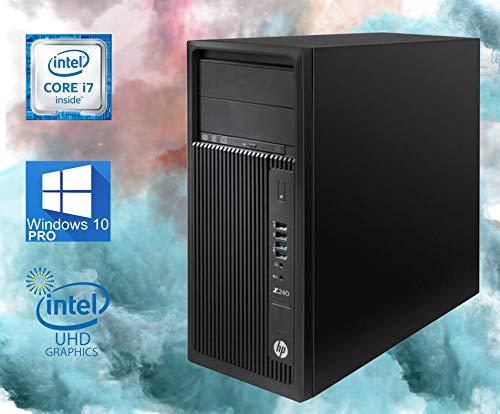 HP Z240 Workstation Tower Computer, Intel Core i7-6700 Upto 4.0GHz, 32GB RAM, 1TB SSD, Gaming Geforce GTX 1660 6GB 4K, DisplayPort, HDMI, AC Wi-Fi, Bluetooth, DVD-RW - Windows 10 Pro (RENEWED)