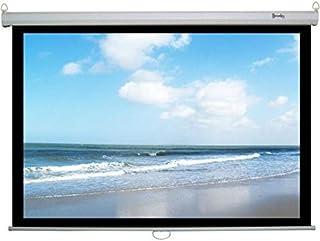 شاشة عرض تعلق على الحائط أو السقف بالفرامل مقاس 244×244 سم