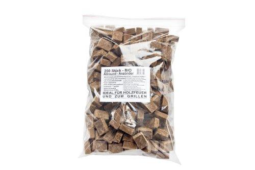 PaellaWorld 7772–600 Bois et Allume cheminée Bio Allround Allume, 600 pièces