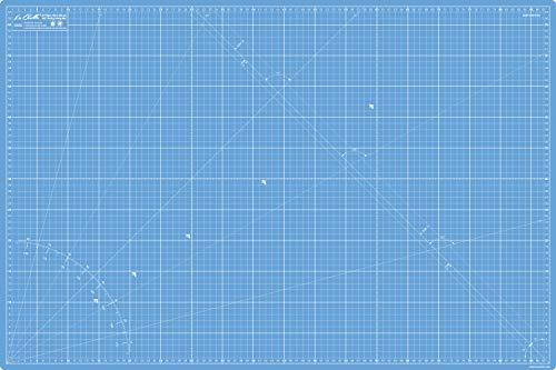 Base de Corte Autocicatricante Patchwork A1 90x60cm y 36x24in 5 Capas con Cuadrícula, para Costura y Manualidades (Azul)