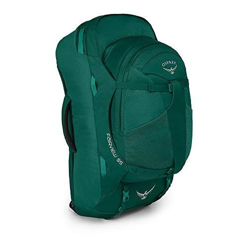 Osprey Fairview 55 Reisetasche für Frauen, mit abnehmbarem 13-Liter-TagesrucksackReisetasche für Frauen, mit abnehmbarem 13-Liter-Tagesrucksack - Rainforest Green (WS/WM)