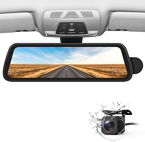 BOSCAM Mirror Dash Cam with Sony IMX Sensor best rear view mirror camera