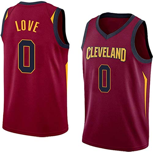 HZHEN Camiseta de Baloncesto Masculino, Kevin Love # 0 Camisetas de la NBA Cleveland Cavaliers, Fresca Uniforme Vintage Transpirable Tejido de Estrellas Unisex Ventilador,A,XXL(185~190cm/95~110kg)