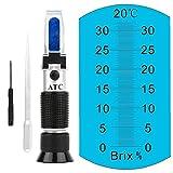 Brix alcohol refractómetro de vino escala dual para medir el contenido de...