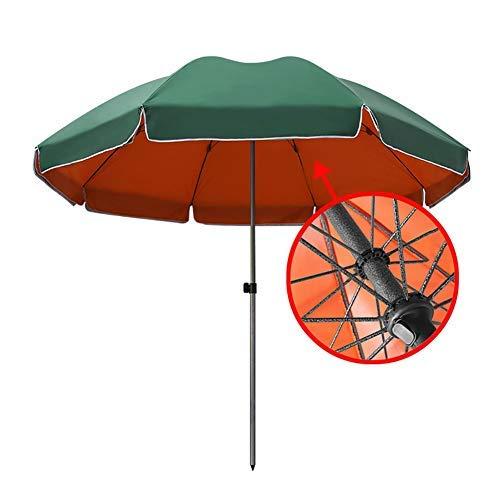 YXB Garden with Sturdy Umbrella Bone, Green Orange Double Layer Outdoor Market Umbrella, for Beach/Pool Side/Patio (Size : 2.6M)